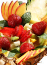 Fruit mix dessert Royalty Free Stock Photos