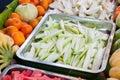 Fruit mixed on tray Royalty Free Stock Photo