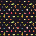 Fruit multicolored seamless vector pattern. Modern flat design. Royalty Free Stock Photo