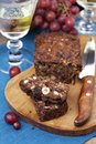 Fruit and nut cake Stock Photos