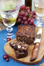 Fruit and nut cake homemade Royalty Free Stock Images
