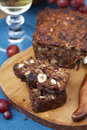 Fruit and nut cake homemade Royalty Free Stock Photo