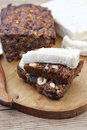 Fruit and nut cake homemade with soft cheese Stock Image