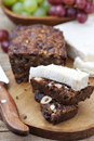 Fruit and nut cake homemade with soft cheese Stock Images