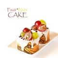Fruit nuts蛋糕。 免版税库存图片