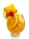 Fruit orange punch cocktail drink with ice Royalty Free Stock Images