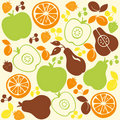 Fruit Pattern Background Stock Images
