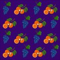 Fruit pattern orange and grapes