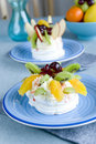 Fruit Pavlova Stock Images