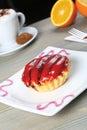 Fruit petite cake Royalty Free Stock Photo