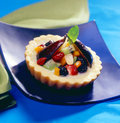 Fruit pie a baked fulfilled with fruits Royalty Free Stock Photo