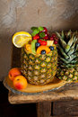 Fruit in pineapple Stock Photos