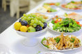 Fruit plate banquet table Stock Images