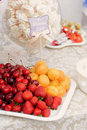 Fruit plate with date card Stock Photography