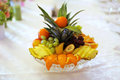 Fruit plate wedding table Stock Photography