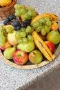 Fruit plateau Stock Photos
