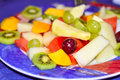 Fruit plater variety of fresh cut fruits Stock Images