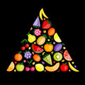 Fruit pyramid for your design Stock Image