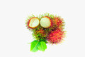 Fruit rambutan white Royalty Free Stock Photo