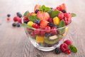 Fruit salad bowl of fresh Royalty Free Stock Photography