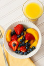 Fruit Salad for Breakfast Royalty Free Stock Photography