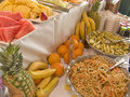 Fruit and Salad Buffet Table Royalty Free Stock Photography