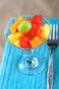 Fruit Salad with fork Stock Photography