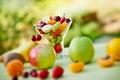 Fruit salad with fresh fruit Royalty Free Stock Photo