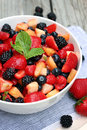 Image : Fruit Salad with Mint dessert hand