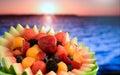 Fruit Salad at Ocean Royalty Free Stock Photo