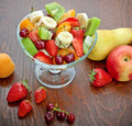Fruit salad of organic fruits Stock Image