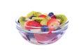 Fruit salad with strawberries, oranges, kiwi Royalty Free Stock Photo