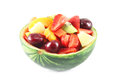 Fruit salad in watermelon Stock Image
