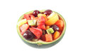 Fruit salad in watermelon Stock Photo