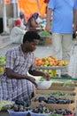 Fruit seller in Barka, Oman Royalty Free Stock Photo