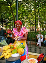 Fruit Seller, Palenquera, Cartagena, Colombia Stock Images