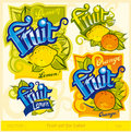 Fruit set for label Stock Photos