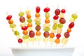 Fruit shashlik Stock Photography