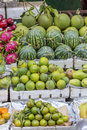 Fruit shop in market Royalty Free Stock Photo