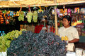 Fruit shop in myanmar market bagan march woman sell morning traditional every day on march bagan city Stock Image