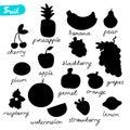 Fruit silhouettes.