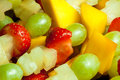 Fruit skewer detail Royalty Free Stock Photo