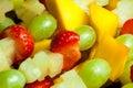 Fruit skewer detail Royalty Free Stock Photo