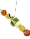Fruit skewers and chocolate Royalty Free Stock Photography