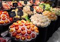 Fruit stall in the supermarket Royalty Free Stock Photo