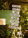 Fruit stand in Ojai Royalty Free Stock Photo