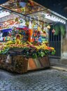 Fruit stand in rome Italy near the spanish steps plazza Royalty Free Stock Photo