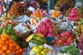 A fruit stand at the Chbar Ampov Market in Phnom Penh, Cambodia Royalty Free Stock Photo