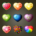 Fruit Hearts For Match Three Game