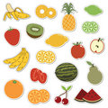 Fruit stickers Stock Image